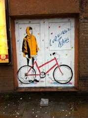 Londres, vélo, peinture
