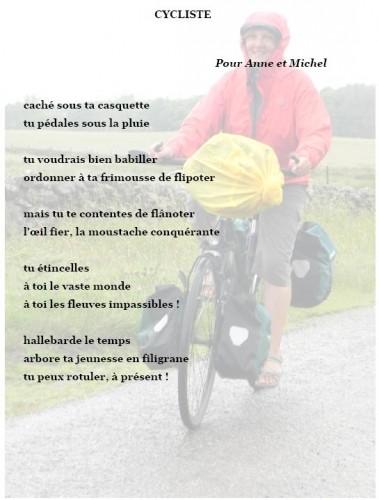 poème, vélo, pluie
