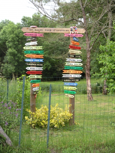 direction, pancartes, itinéraires