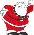Père Noël; colère