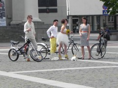 mariage, vélo, vilnius